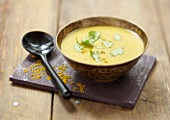 Orange lentil and curry soup