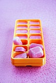 Blueberry-flavored ice cubes