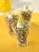 Sardine tartare with herbs