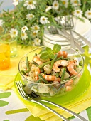 Shrimp,potato and green bean salad with mint pistou