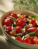 Cherry tomato,feta and basil salad