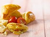 Tomato and Sbrinz mini turnovers