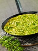 Sfugato,eggplant and oregano Corsican omelette