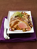 Loin of lamb with chocolate stuffing