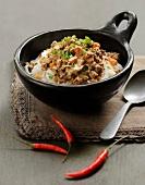 Thai-style pasta Bolognaise