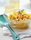 Exotic pineapple salad
