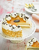 Apricot jam birthday cake