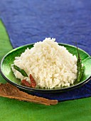Basmati rice with chili peppers