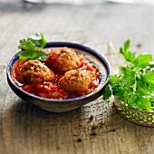 Moroccan-style shrimp balls