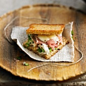 Raw ham and Cantal toasted sandwich