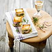 Onion and tapenade toasted sandwich