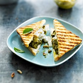 Eggplant and pesto toasted sandwich