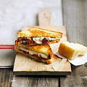 Parmesan and ham toasted sandwich