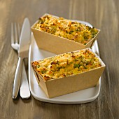 Crab and herb savoury cake