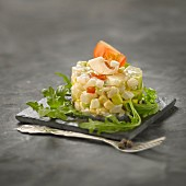 Fish and vegetable tartare