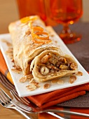 Crisp apple and raisin Strudel