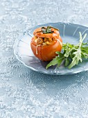 Tomato stuffed with shrimps