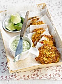 Crab and oat fritters