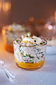 Crab meat, mango and apple Verrine