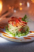 Quinoa and lobster starter