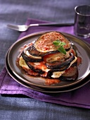Eggplant and cheese mille-feuille