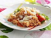 Cod with quinoa