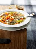 Spelt and pumpkin soup