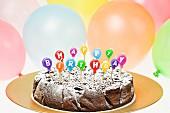 Schokoladen-Geburtstagskuchen