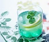 Mint green tea cocktail