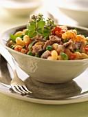 Tuna, pasta and vegetable salad