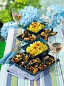Cultivated mussels with chorizo