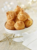 Goat's cheese choux buns