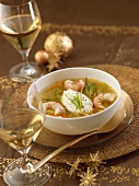 Dublin Bay prawn soup with tarragon and whipped cream