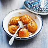 Apricot, honey and almond Tajine