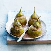 Figs with cream stuffing cooked in a Tajine