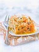 Salmon tartare with horseradish