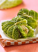 Cabbage leaves stuffed with quinoa and turkey
