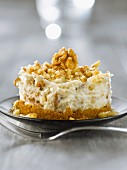 Gorgonzola,walnut and gingerbread cheesecake