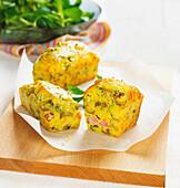 Ham and olive mini savoury cakes