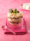 Saint-Albray,mushroom and rice Verrine