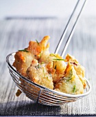 Chicory and roquefort fritters