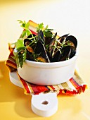 Mussels with herbs