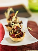 Mushroom and spanish ham mini tarlets