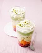 Pistachio trifle