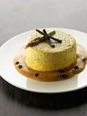 Indivual scallop flan with truffles