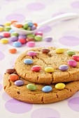 Cookies decorated with Smarties