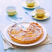 Amandine and pear tart