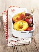 Roasted peaches with rosemary