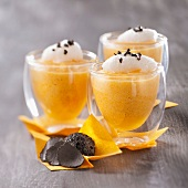 Pumpkin mousse with truffle emulsion