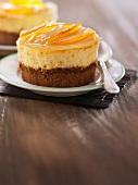 Lime and lemon curd cheesecake